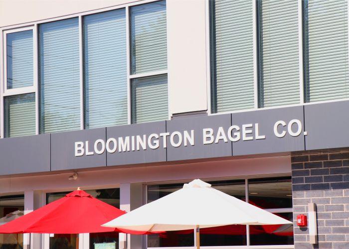 """East Coast Bagels, Midwest Service""; Bloomington Bagel Co."
